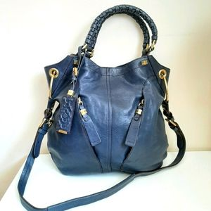 OrYANY Navy Blue Leather Crossbody Bag
